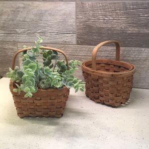 Wicker Basket Pair